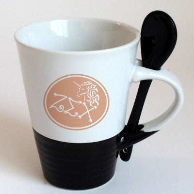 Zeta Sigma Chi Sorority Coffee Mug with Spoon - 6150