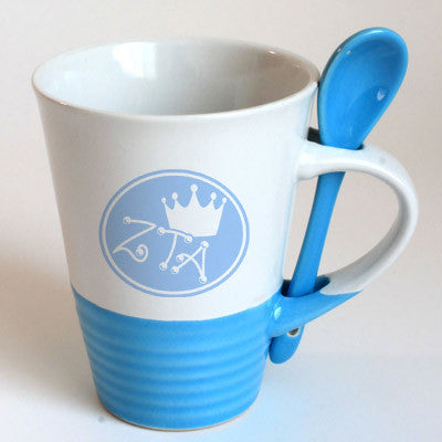 Zeta Tau Alpha Sorority Coffee Mug with Spoon - 6150