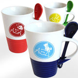 Sorority Coffee Mug with Spoon - 6150