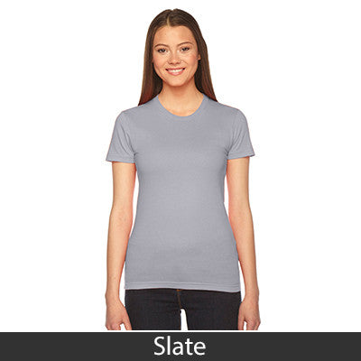 Delta Delta Delta Embroidered Jersey Tee - American Apparel 2102W - EMB