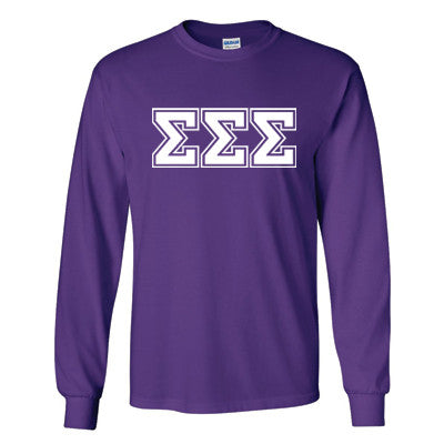 Sorority Varsity Printed Long-Sleeve T-Shirt - Gildan 2400 - CAD