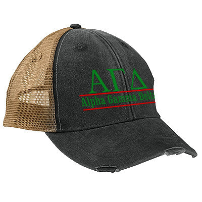 Sorority Ollie Cap with Bar Design Embroidery - Adams OL102 - EMB