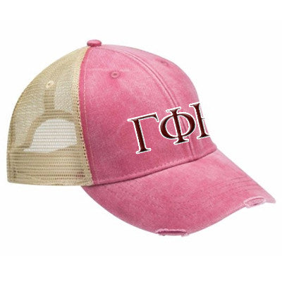 Sorority Ollie Cap with Two Color Embroidery - Adams OL102 - EMB