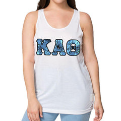 Sorority Panoramic Pattern Printed Tank - American Apparel PL408W - SUB