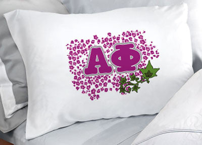 Alpha Phi Cheetah Print Pillowcase - SGPC