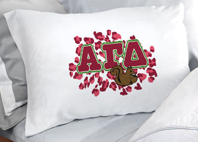 Alpha Gamma Delta Cheetah Print Pillowcase - SGPC