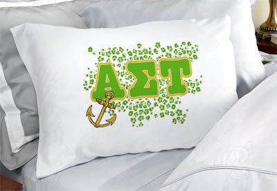 Alpha Sigma Tau Cheetah Print Pillowcase - SGPC