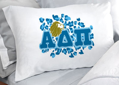 Alpha Delta Pi Cheetah Print Pillowcase - SGPC