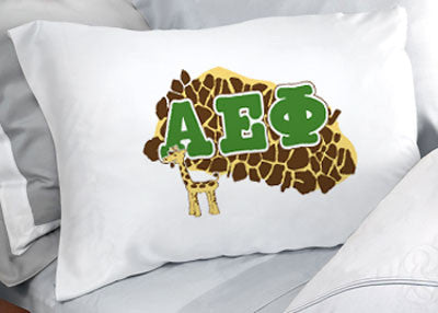 Alpha Epsilon Phi Cheetah Print Pillowcase - SGPC