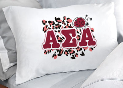 Alpha Sigma Alpha Cheetah Print Pillowcase - SGPC