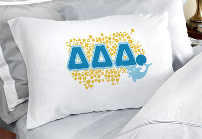 Delta Delta Delta Cheetah Print Pillowcase - SGPC