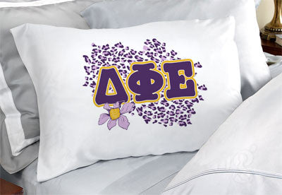 Delta Phi Epsilon Cheetah Print Pillowcase - SGPC