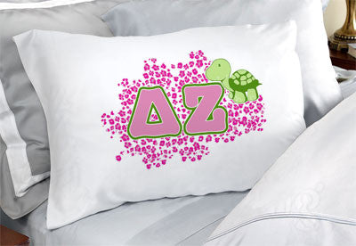 Delta Zeta Cheetah Print Pillowcase - SGPC