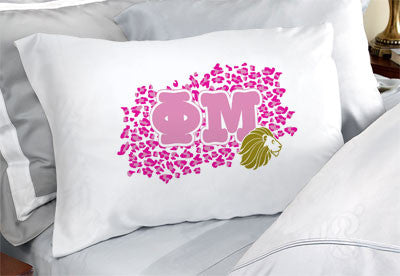Phi Mu Cheetah Print Pillowcase - SGPC