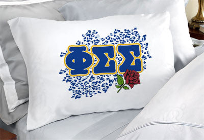 Phi Sigma Sigma Cheetah Print Pillowcase - SGPC