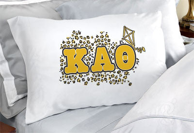 Kappa Alpha Theta Cheetah Print Pillowcase - SGPC