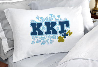 Kappa Kappa Gamma Cheetah Print Pillowcase - SGPC