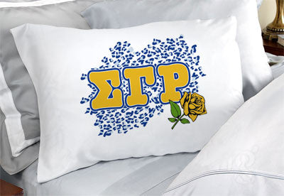 Sigma Gamma Rho Cheetah Print Pillowcase - SGPC
