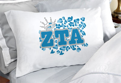 Zeta Tau Alpha Cheetah Print Pillowcase - SGPC