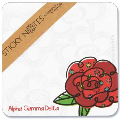 Alpha Gamma Delta Sorority Sticky Notes - Alexandra Co. a1058