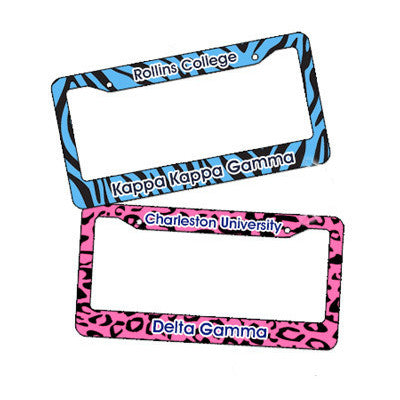 Sorority Animal Print License Plate - U4567