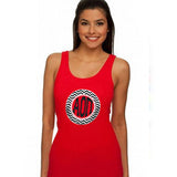 Sorority Chevron Printed Ladies Tank - Next Level 3533 - CAD
