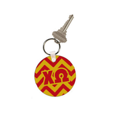 Sorority Chevron Stripe Keychain - UN4411 - SUB