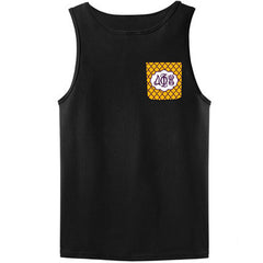 Sorority Crocket Tank Top with Script Monogram - Gildan 2200 - SUB