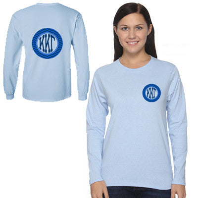 Sorority Printed Chevron Long-Sleeve T-Shirt - Gildan 2400 - CAD