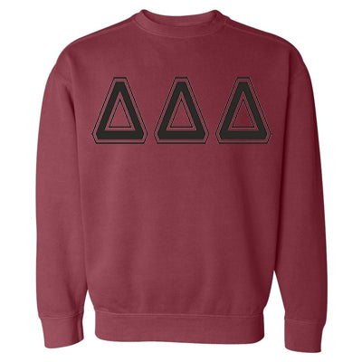 Sorority Varsity Printed Crew Neck Sweatshirt - Comfort Colors 1566 - CAD
