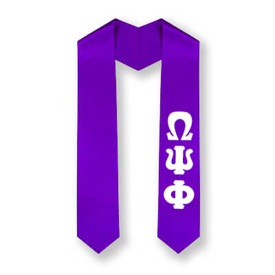 Omega Psi Phi Printed Letter Budget Graduation Stole - CAD