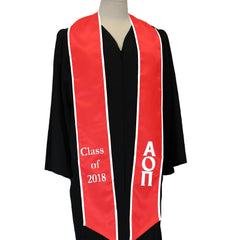 Greek Multi-Color Graduation Stole - CAD
