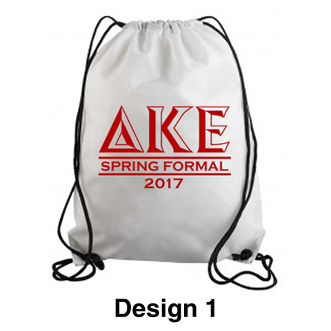 Custom Greek Formal Cinch Bag - SBL049 - SUB