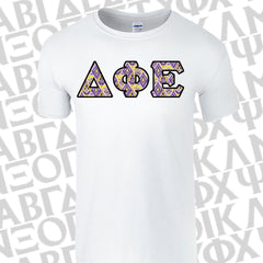Bid Day Special - Sorority Panoramic Pattern Printed Tee - Gildan 420 - SUB