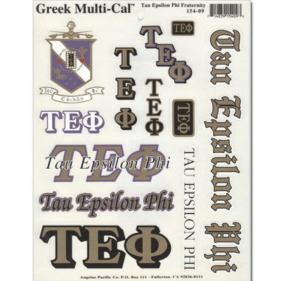 Tau Epsilon Phi Multi-Cal Sticker