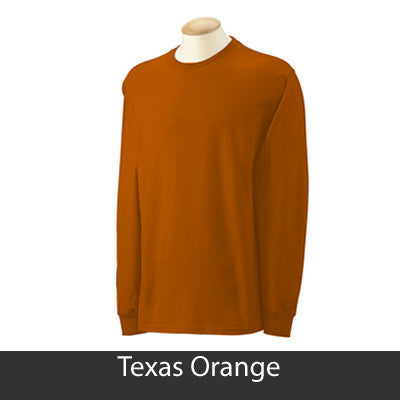 Chi Omega Longsleeve T-Shirt with Twill - Gildan 2400 - TWILL