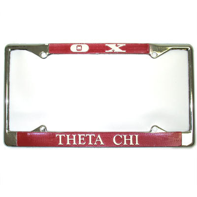 Theta Chi License Plate Frame - Rah Rah Co. rrc