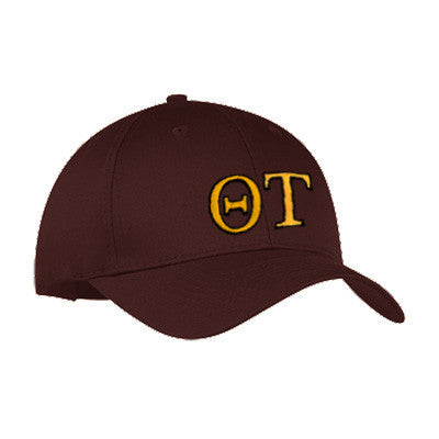 Theta Tau 2-Color Embroidered Cap - Port and Company CP80