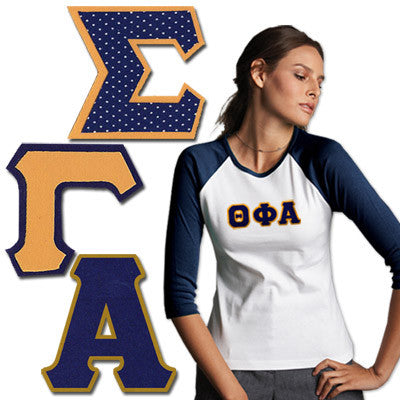 Greek 2-inch Twill Letters (Letters Only)