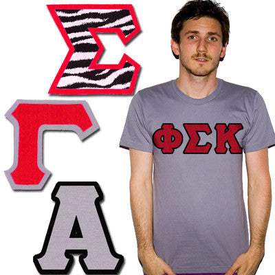 Greek 4-inch Twill Letters (Letters Only)