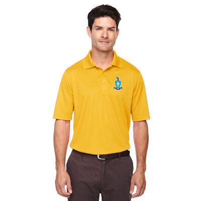 Fraternity Printed Crest Performance Pique Polo - Core 365 88181 - DIG