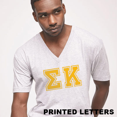 Varsity Printed Fraternity V-Neck Tee - American Apparel 2456W - CAD