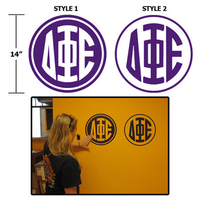 Greek Monogram Wall Sticker - CAD