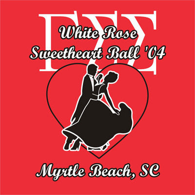 White Rose Sweetheart Ball Shirt