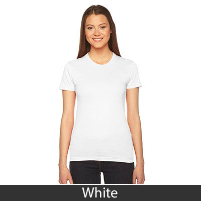 Delta Zeta Embroidered Jersey Tee - American Apparel 2102W - EMB