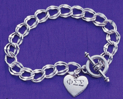 Sorority Heart Toggle Bracelet