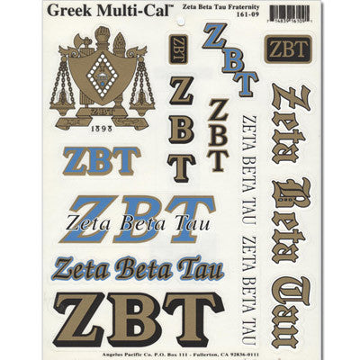 Zeta Beta Tau Multi-Cal Sticker
