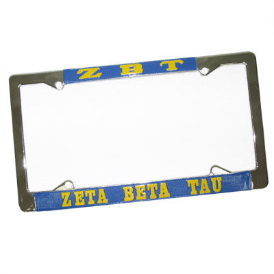 Zeta Beta Tau License Plate Frame - Rah Rah Co. rrc