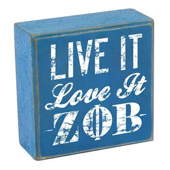 Sorority Wooden Plaque - Live It, Love It - a1007