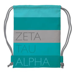 Zeta Tau Alpha Drawstring Backpack - a1009